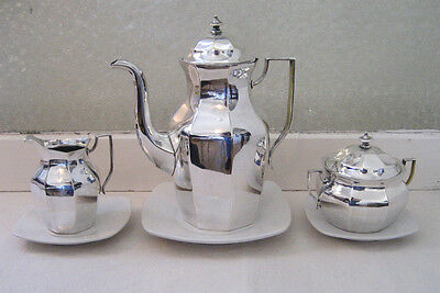 Rare VINTAGE Gust. Eriksson Silver Plate Coffee Set made in Eskilstuna Sweden