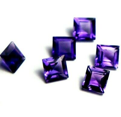 1x Amethyst Carree facettiert 4x4mm, (AM020)