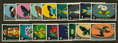 SOLOMON ISLANDS : 1972  definitives unmounted mint SG 219/33a