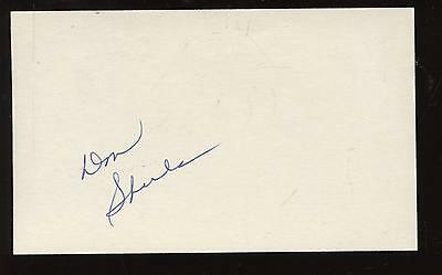 Don Shula Autographed Index Card Hologram