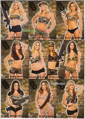 2011 Benchwarmer Limited Boot Camp Complete Insert Set 10 Cards: Miriam/jessica