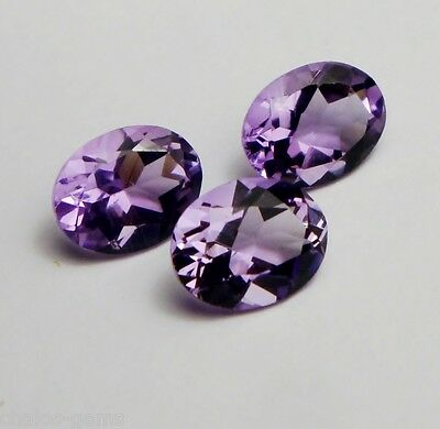 1x Amethyst - Oval facettiert 9x7mm, (AM057)