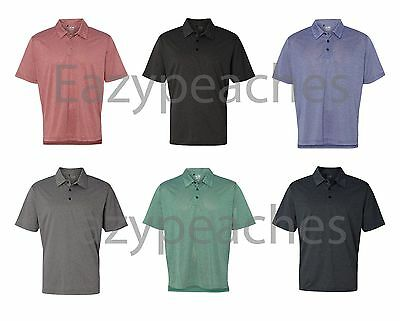 ADIDAS Golf Mens S-2XL 3XL Climalite Heathered dri fit Polo Sport Shirts A163
