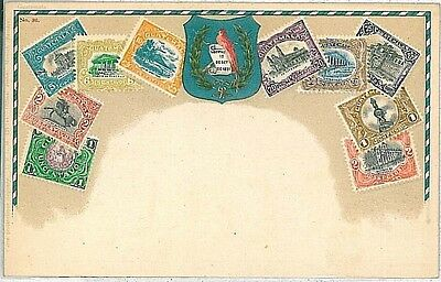 Vintage Postcard: Guatemala - Stamps On Postcard : Zieher