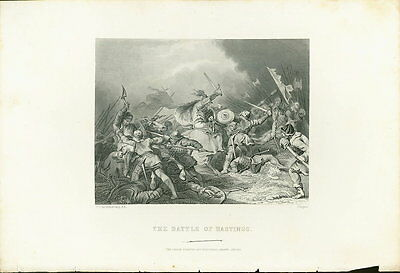 Antique print - The Battle of Hastings by Loutherbourg