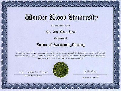 Doctor Hardwood Flooring Diploma Oak Maple Birch Walnut