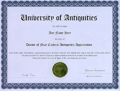 Doctor Near Eastern Antiquities Diploma Dong Son