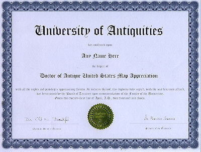 Doctor Antique United States Map Appreciation Diploma