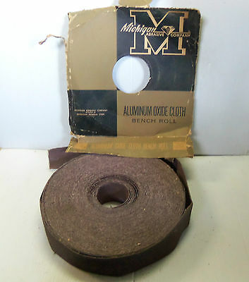 "New Michigan Abrasive Co. Aluminum Oxide Abrasive Cloth Bench Roll 2"" 50Grit A/O"