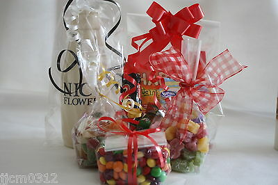 Clear Cellophane Bags Gift Sweets Party Cello Food Safe 10 sizes all quantities