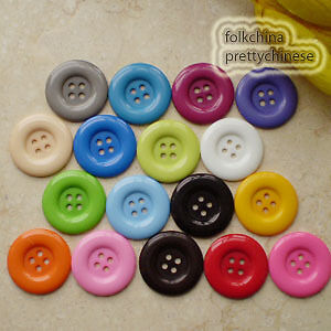 20pcs Large Mixed 33mm Plastic 4 Hole Buttons