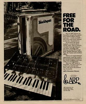 1975 Free For The Road The Arp Odyssey Synthesizer Ad