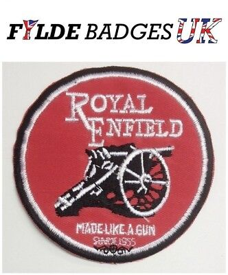 Royal Enfield Motor Cycle Embroidered Sew On Patch Badge