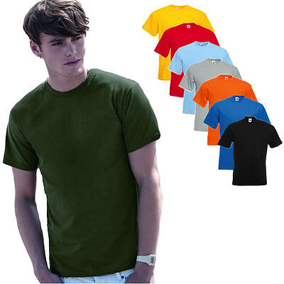 Fruit of the Loom Herren Kurzarm T-Shirt  Super Premium Shirt Qualität S - XXL