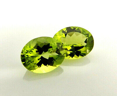 1x  Peridot -  Oval facettiert 10x8mm  (PE061)
