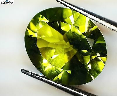1x  Peridot - Oval facettiert 11x9mm, (PE062)