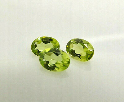 1x  Peridot Oval facettiert 7x5mm, (PE058)