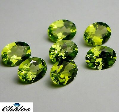 1x  Peridot Oval facettiert 9x7mm, (PE060)