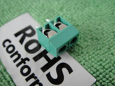 5p 2-Way PCB Panel Mount Solder Terminal Terminator Screw Block Socket 5mm,G2301