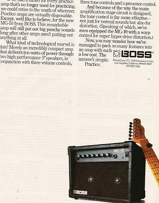 1989 The Mg-10 Practice Boss Amplifier Ad