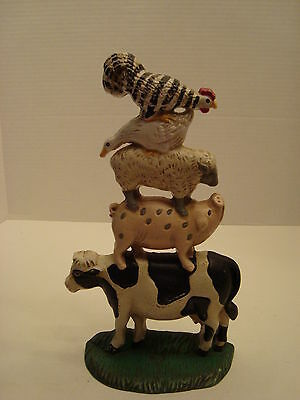 Midwest of Cannon Falls Cast Iron Stacked Barnyard Animals Doorstop
