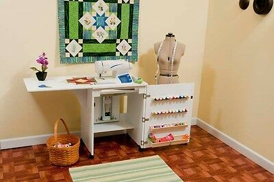 Arrow Sewnatra White Sewing Cabinet Table