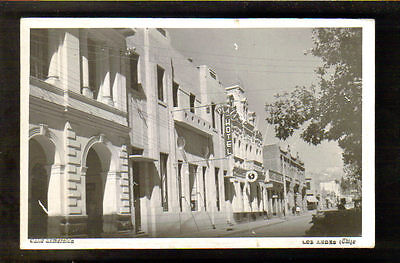 LOS ANDES, CHILE ~ CALLE ESMERALDA ~ REAL PHOTO PC ~ c. 1940's