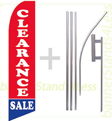 Feather Flutter Swooper Banner Sign Flag 15' Kit - CLEARANCE SALE b