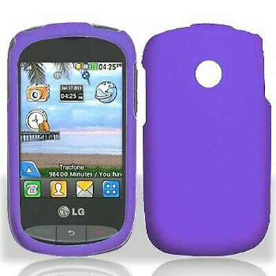 more photos d892f db9a8 FOR TRACFONE LG 840G Rubberized HARD Protector Case Snap On Phone ...