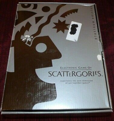 Electronic Game of Scattergories Platinum Edition 100% Complete Hasbro 2001