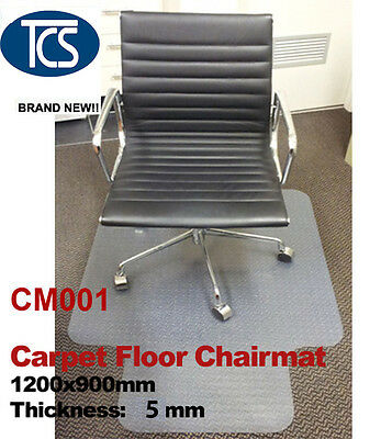 New Carpet Floor Office/work Chair Mat Vinyl Protector 1200 x 900mm hard plastic