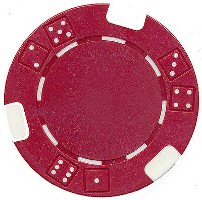 """150 RED DOUBLE DICE """"LUCKY 7'S"""" CLAY COMPOSITE POKER CHIPS SET 11.5 gr *"""