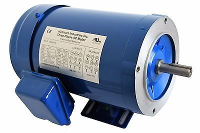 Ac Motor, 1Hp, 1725Rpm, 3Ph, 208-230V/460V,  56C/tefc, With Base