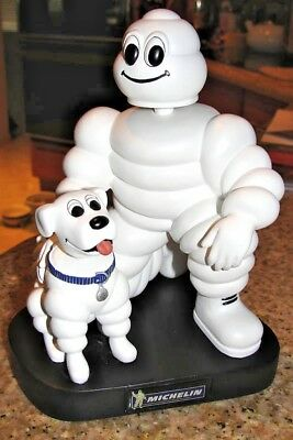 "Michelin Man & Dog 7"" Bobblehead Doll Promotional Item Michelin Tire Man"