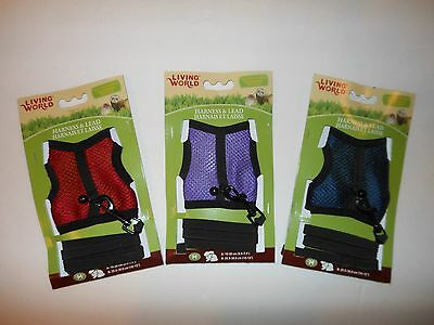 Living World Ferret Large Rat Guinea Pig Harness & Lead - Medium