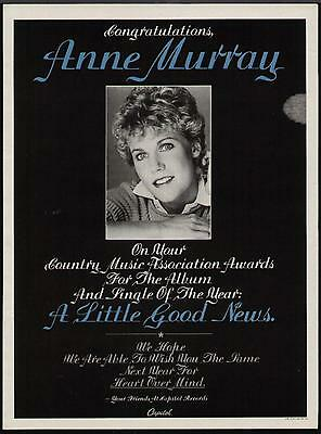 "1984 Anne Murray ""a Little Good News"" Album Promo Ad"