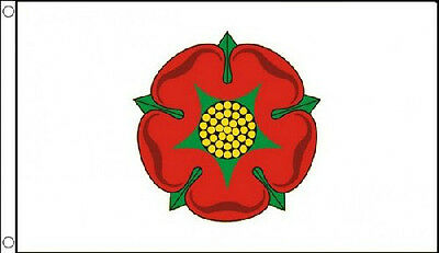 OLD LANCASHIRE FLAG 5' x 3' Red Rose England County