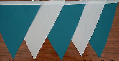 Fabric Bunting Duck Egg Blue /& White Wedding Party Decoration 2 mt or more