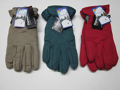 New Ladies Fleece lined winter commuter gloves w/ Thinsulate Insulation