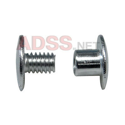 "100 3/16"" Aluminum Screw Posts / Binding Screws / Chicago Screws / Binder Posts"