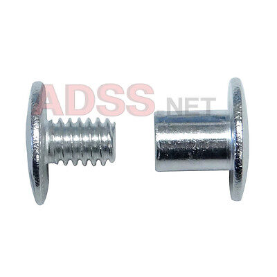 "100 1/4"" Aluminum Screw Posts / Binding Screws / Chicago Screws / Binder Posts"