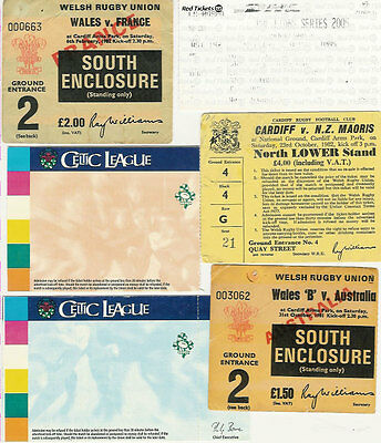 Collection Of 6 Rugby Tickets Including British Lions, France & Australia