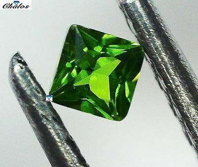 1x Chrom Diopside - prinzess facettiert 2x2mm (CD007)