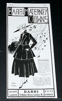 1916 Old Wwi Magazine Print Ad, Barri, Maternity Gowns, Dainty Layette, Fashion!
