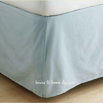 LIGHT BLUE BEDSKIRT Twin or Queen : ALL STATE BOYS DUST RUFFLE BED SKIRT