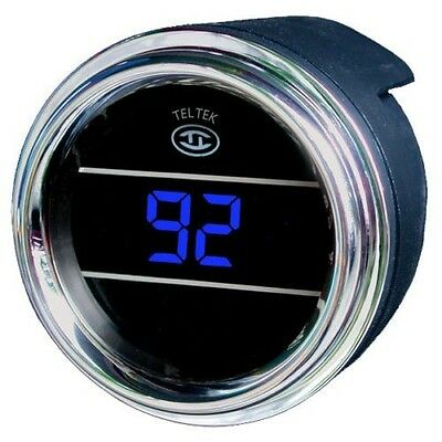 Peterbilt Teltek Turbo Boost Gauge Blu Freightliner Mack Volvo International 213
