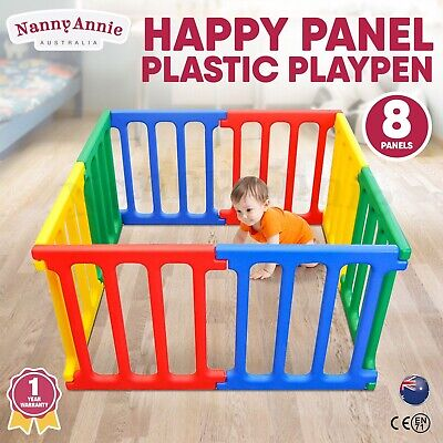 Happy Panel Playpen | Kids Square 1.1m Plastic Childrens Play Room