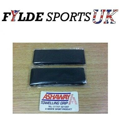 2 x Ashaway Towel Grips BLACKs for Badminton or Squash - Cheapest Price