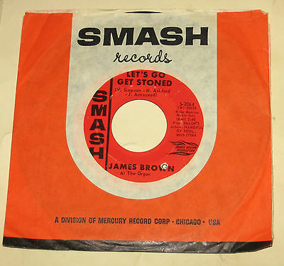 """James Brown 7"""" 45 HEAR SOUL Let's Go Get Stoned SMASH Our Day Will Come"""