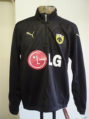 Aek Athens 1/2 Zip Black Training Top By Puma Adults Small Brand New With Tags